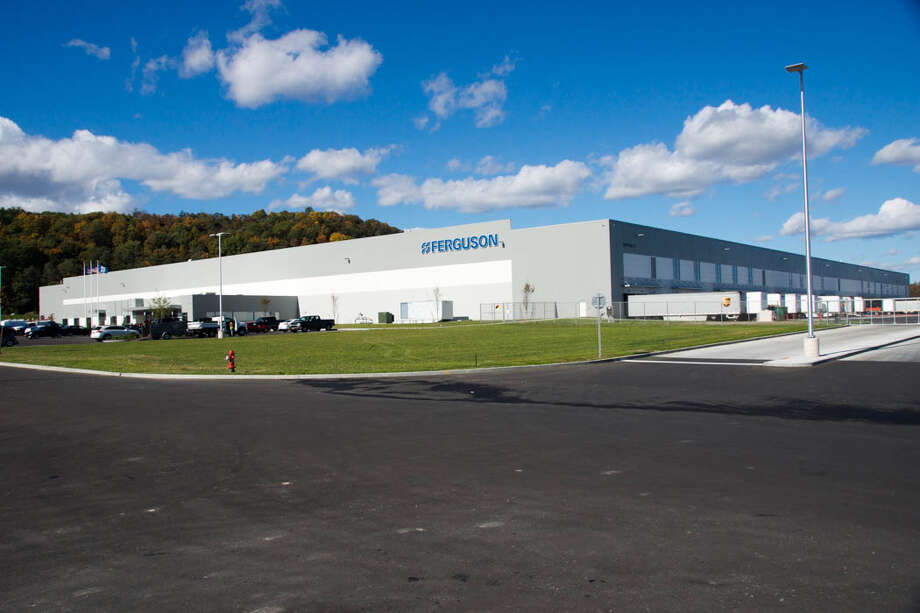There are 75 workers at the new $40.5 million Ferguson Enterprises plumbing supplies distribution center that opened Tuesday in a Coxsackie industrial park. / Michael Townsend / Flight Worx, LLC
