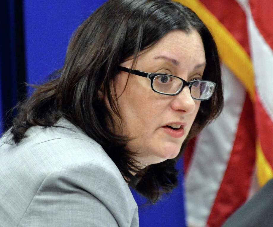 General counsel Monica Stamm answers a question during a meeting of the New York State Joint Commission on Public Ethics meets Tuesday Nov. 17, 2015 in Albany, NY.  (John Carl D'Annibale / Times Union) Photo: John Carl D'Annibale / 10033655A