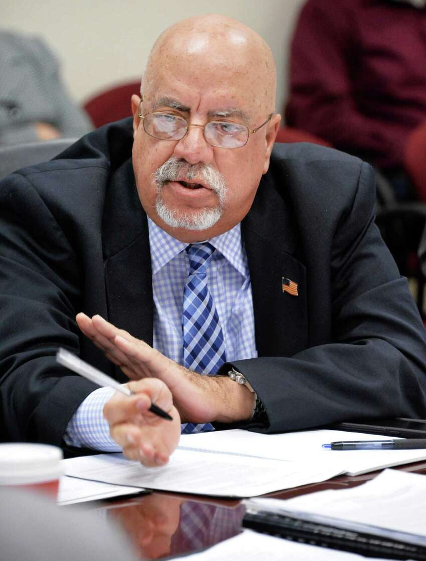 Commission member Joseph Covello speaks during a meeting of the New York State Joint Commission on Public Ethics meets Tuesday Nov. 17, 2015 in Albany, NY. (John Carl D'Annibale / Times Union)
