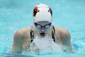 Greenwich girls swim team captures sixth straight Class LL title - Photo