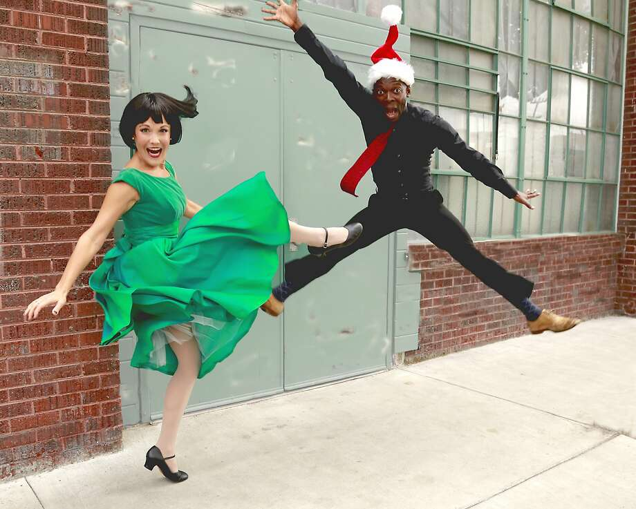 """Lisa Hori-Garcia (left) and Rotimi Agbabiaka in Word for Word's """"Bums, Broads and Broadway."""" Photo: Mel Solomon"""