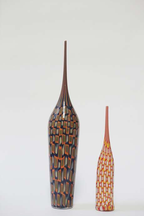 Vases made by Bill Burch of Pinzette Glass in West Berkeley. Photo: Lea Suzuki, The Chronicle