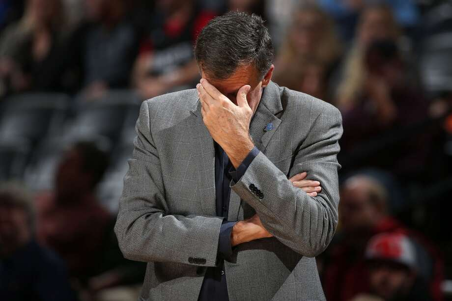 Head coach Kevin McHale of the Houston Rockets reacts as he leads his team against the Denver Nuggets at Pepsi Center on November 13, 2015 in Denver, Colorado. The Nuggets defeated the Rockets 107-98. Photo: Doug Pensinger, Getty Images