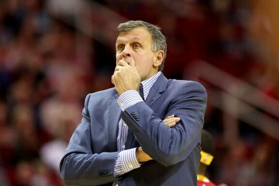 Houston Rockets head coach Kevin McHale during the first half agains the Dallas Mavericks in a basketball game played at the Toyota Center Saturday, Nov. 14, 2015, in Houston. ( Gary Coronado / Houston Chronicle )