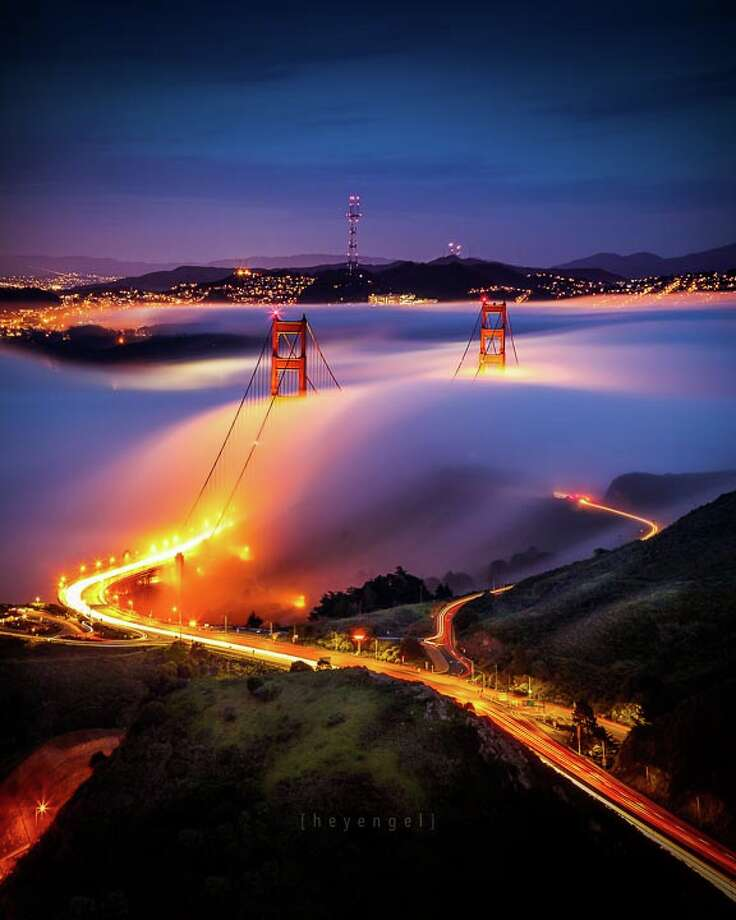 The Golden Gate Bridge meets Karl the Fog Photo: Engel Ching, Engel Ching/Courtesy / © Engel Ching