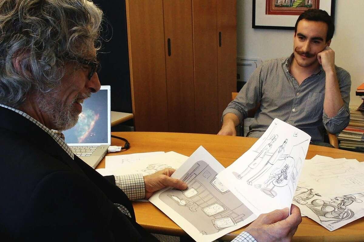 "From the documentary, ""Very Semi-Serious"": New Yorker cartoon editor Bob Mankoff, left, and cartoonist Farley Katz."