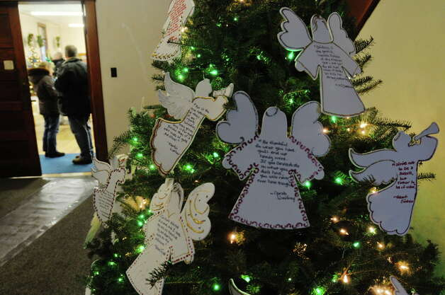 A view of one of the decorated Christmas trees on display at the Masonic Hall during the Festival of Trees and Wreath Auction at the Altamont Victorian Holiday Celebration on Sunday, Dec. 15, 2013 in Altamont, NY.   (Paul Buckowski / Times Union) Photo: PAUL BUCKOWSKI / 00024873A