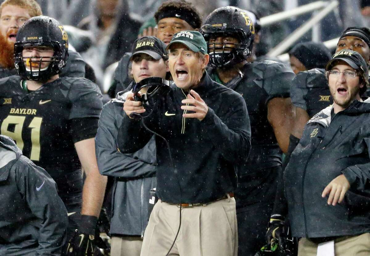 10.Baylor (8-1) Remaining games: at No. 6 Oklahoma State (Saturday), at No. 18 TCU (Nov. 27), vs. Texas (Dec. 5) Art Briles' strategy is pretty clear. Schedule a cake non-conference schedule, run the table and the committee will be forced to put an undefeated Big 12 team in the playoff. Unfortunately for Briles, he hasn't figured out the whole how-to-actually-go-undefeated thing yet. This year's non-conference slate of SMU, Lamar and Rice will be followed up next year with Northwestern State, SMU and Rice. In 2017, the Bears are down to face Liberty, UTSA and Duke. As long as that's the case, Baylor will never get the benefit of the doubt if it doesn't finish undefeated.