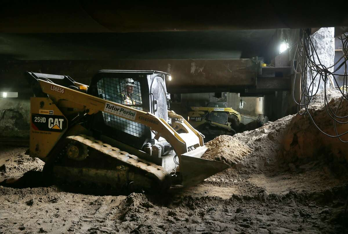 Construction is underway on the concourse of the Yerba Buena/Moscone station of the Central Subway at Fourth and Folsom streets in San Francisco, Calif. on Tuesday, Nov. 17, 2015.