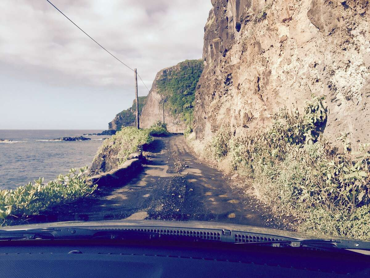 """Dicey conditions on the """"back road"""" between Hana and the rest of Maui."""