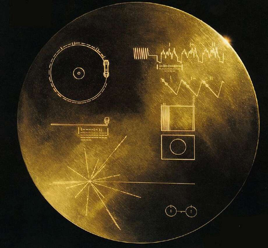 This cover on The Golden Record included a diagram explaining how to play and a stylus for that purpose. The record was placed aboard the Voyager I and Voyager 2, both launched in 1977. Photo: Christian, Carol, NASA