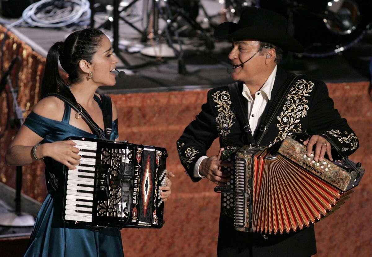 #3. Musician Julieta Venegas and Los Tigres Del Norte perform onstage at the 6th Annual Latin Grammy Awards