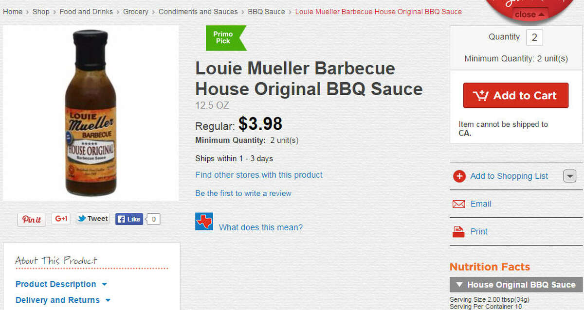 Louie Mueller Barbecue House Original BBQ Sauce Franklin barbecue sauce also available too. And no need to wait in line. Source