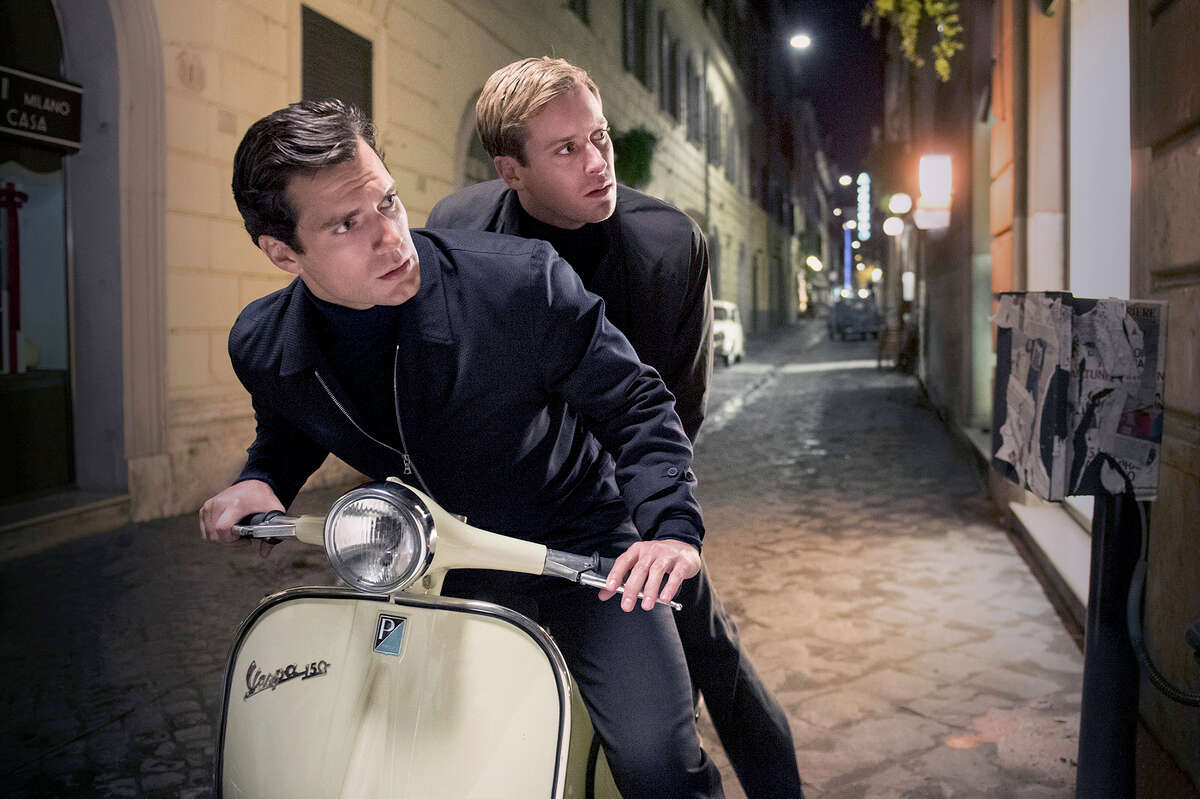 """(L-r) Henry Cavill as Solo and Armie Hammer as Illya in """"The Man from U.N.C.L.E."""" Illustrates FILM-UNCLE-ADV14 (category e), by Michael O?'Sullivan © 2015, The Washington Post. Moved Wednesday, Aug. 12, 2015. (MUST CREDIT: Daniel Smith/Warner Bros. Entertainment.)"""