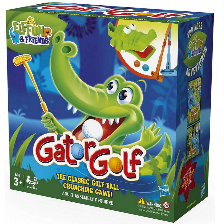 Gator Golf, more fun as a game by Hasbro than it is in real life. Photo: Hasbro