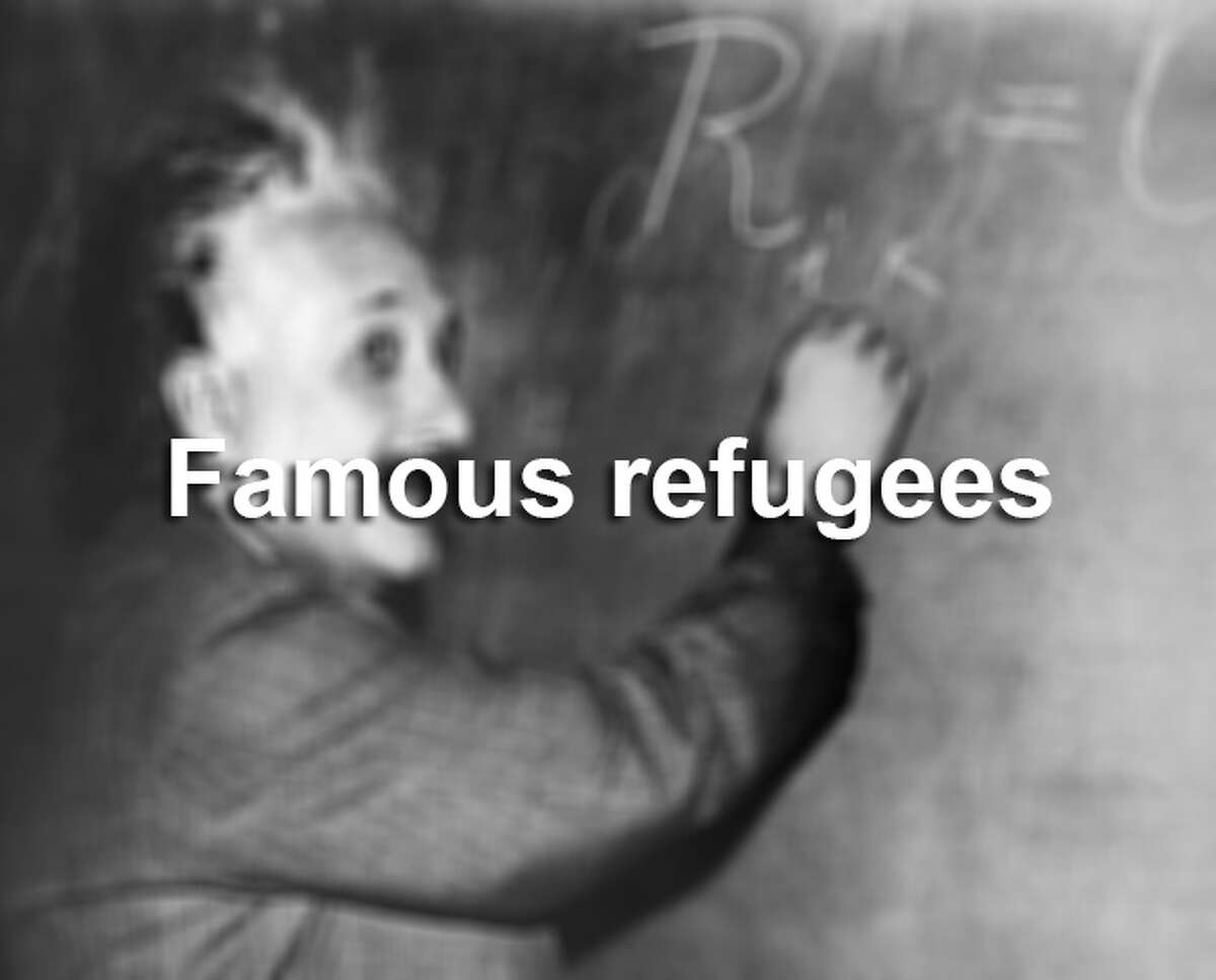 Scroll through the slideshow to see refugees who became famous.