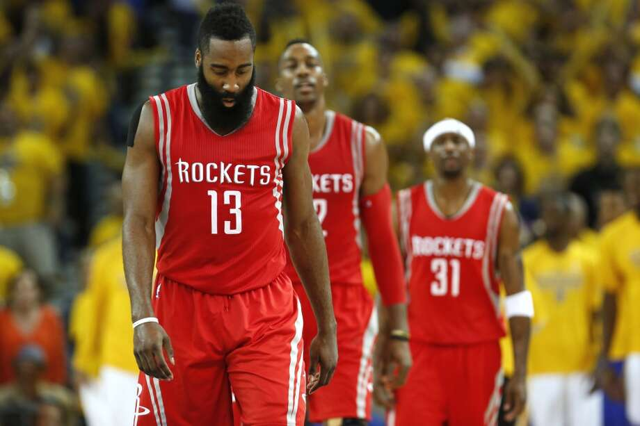 Click through the gallery to see other notable sports curses through the years.James Harden vs. Lil BRockets star James Harden had a rough series in the 2015 Western Conference final after rapper Lil B put a curse on him. Coincidence?  Photo: James Nielsen, Houston Chronicle