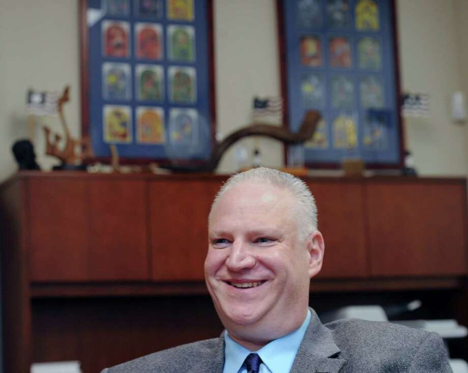 Temple Sholom Rabbi Mitchell Hurvitz  at the Temple in Greenwich, Conn., Friday, Sept. 4, 2015. Temple Sholom will be celebrating their100th anniversary in 2016.  As part of 100th anniversary celebration, the Temple Sholom congregation will participate in the writing of a new sefer Torah. Photo: Bob Luckey Jr. / Hearst Connecticut Media / Greenwich Time