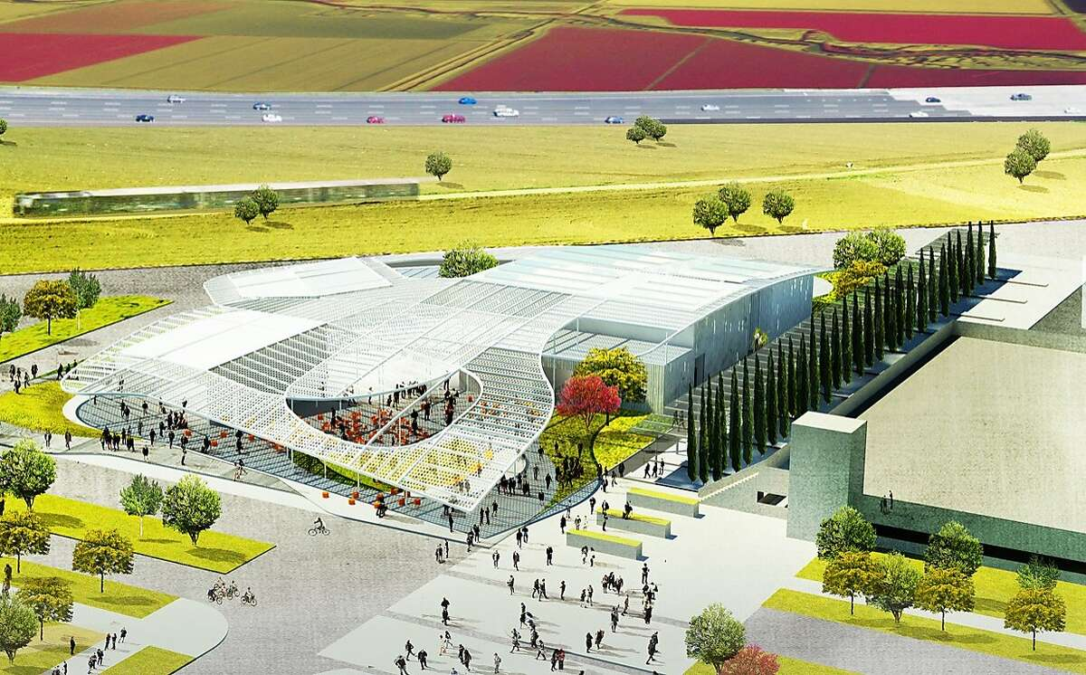 Exterior of Manetti Shrem Museum of Art - architects' rendering