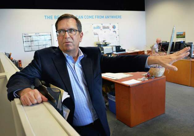 Managing member David Ellis in the offices of US Light Energy Tuesday Nov. 17, 2015 in Colonie, NY.  (John Carl D'Annibale / Times Union) Photo: John Carl D'Annibale / 10034299A