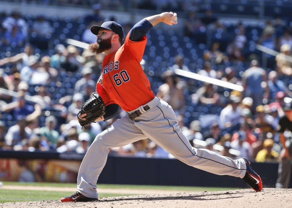 #3 - April 29: Astros 7, Padres 2 Keuchel's line: 8.0 IP, 3 hits, 0 BB, 1 ER, 4 SO