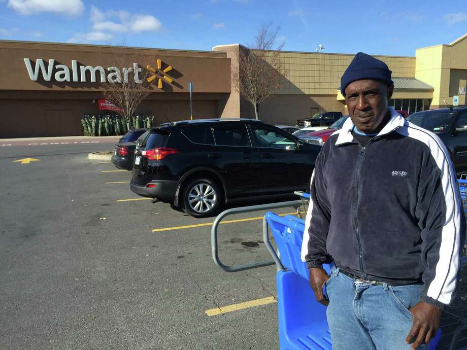 Thomas Smith, 52, of Albany, an ex-convict who was formerly homeless, was fired from his $9-an-hour job gathering shopping carts at the Walmart Supercenter in East Greenbush after he redeemed $5.10 worth of discarded empty cans and bottles. (Paul Grondahl / Times Union)