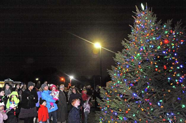 Stuyvesant Plaza held their first holiday tree lighting ceremony on Wednesday Nov.18, 2015 in Albany, N.Y.  (Michael P. Farrell/Times Union) Photo: Michael P. Farrell / 10034313A