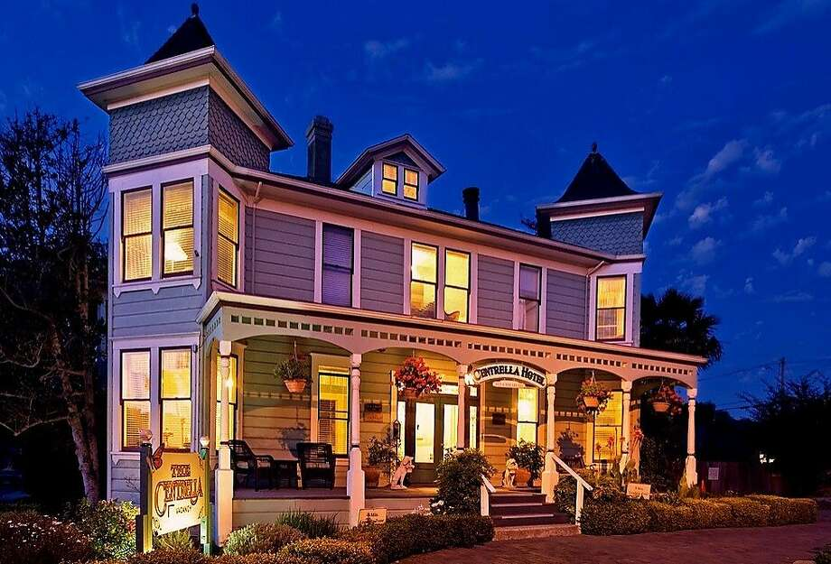 Pacific Grove's Centrella Inn and nine of its brethren will don Victorian finery to host open houses during the city's annual Christmas at the Inns celebration. Photo: Stephen Phillips Photography, Pacific Grove Chamber Of Commerc