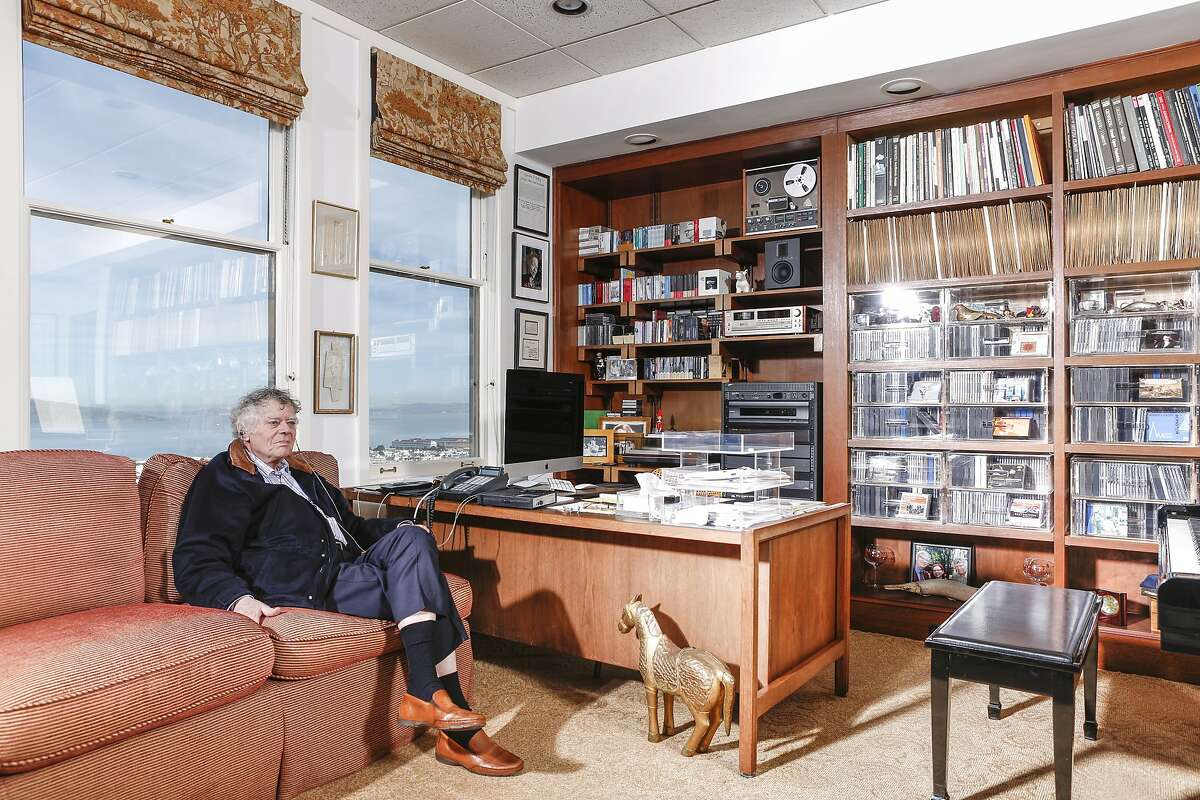 Gordon Getty listens to music in his home office on Wednesday, Nov. 18, 2015 in San Francisco, Calif.