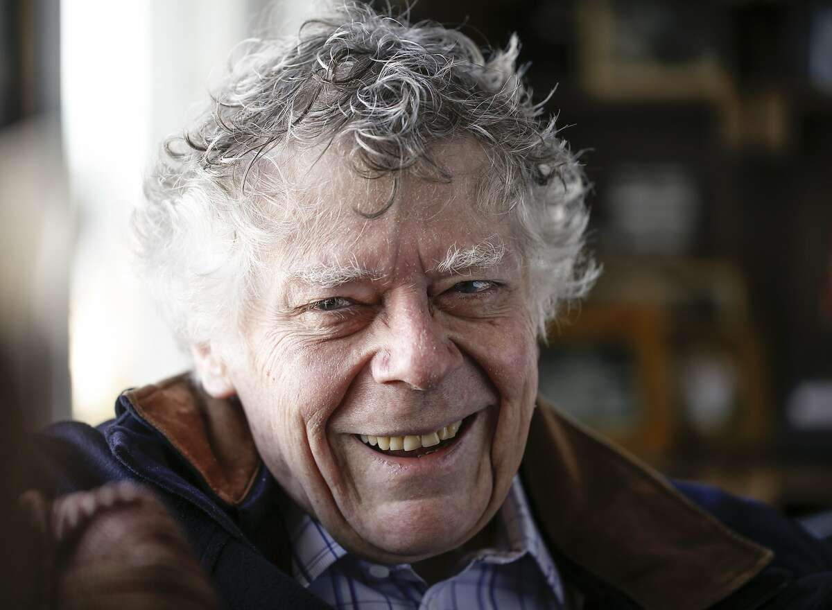 Gordon Getty talks about his life and opera in his home office on Wednesday, Nov. 18, 2015 in San Francisco, Calif. Getty's opera,