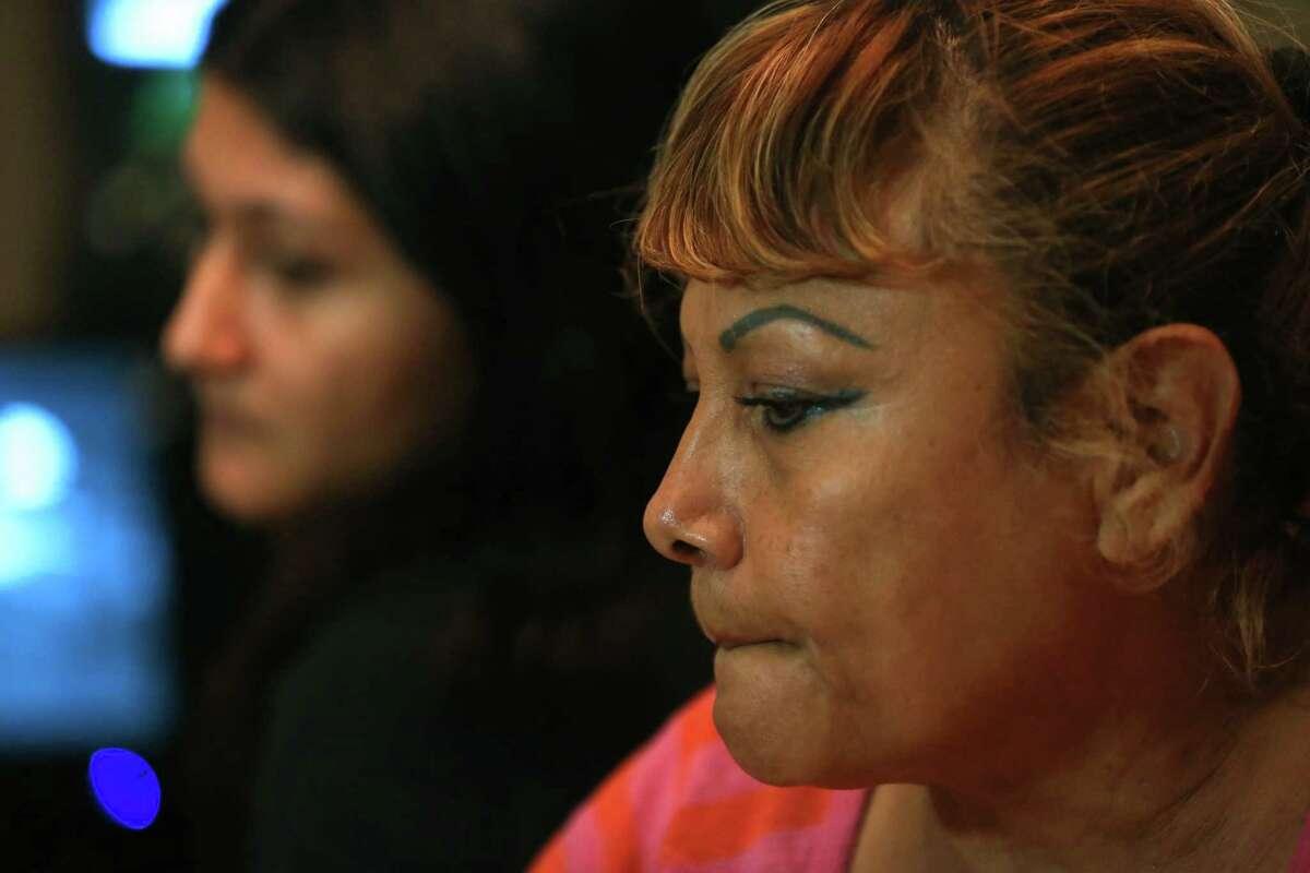 Alex Guzman's sister, Yuliana Romero, and mother, Blanca Enriquez.