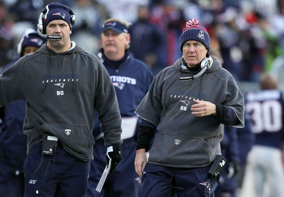 Before he became the Texans' coach, Bill O'Brien (left) worked under Bill Belichick in New England