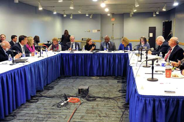 Officials are gathered for a panel discussion on developing tourism in NYS the Empire State Plaza on Wednesday, Nov. 18, 2015 in Albany, N.Y.  (Lori Van Buren / Times Union) Photo: Lori Van Buren / 10034334A