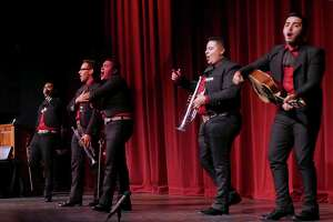 Mariachi Nuevo Estilo AVM performs during the San Antonio College 90th Anniversary Showcase at McAllister Auditorium on Wednesday night, Nov. 18, 2015. Several SAC alumni, including television personality Michael Valdes, aerialist Marshall Jarreau and Tejano singer Dr. Patsy Torres performed at the event. San Antonio College was founded in 1925 as University Junior College.