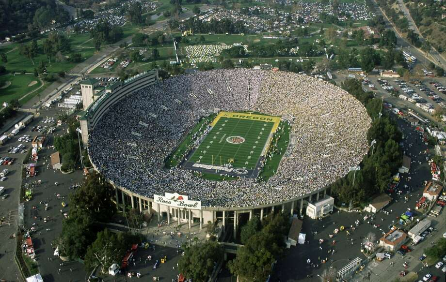 The Rose Bowl has played host to the Super Bowl five times, including the Raiders' win over the Vikings in 1977. The stadium will be eligible to host again when there is an NFL team in L.A. Photo: Ap