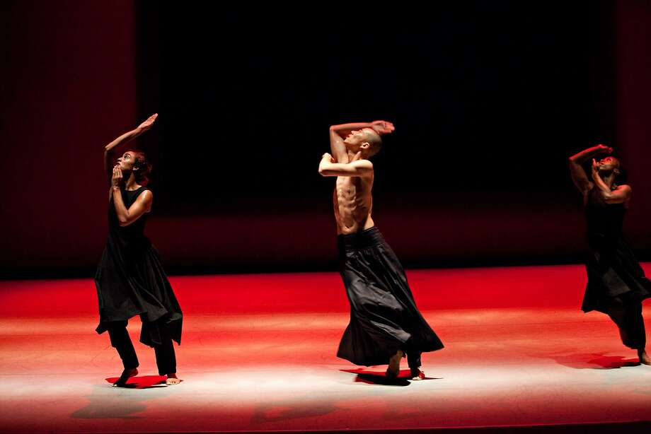 """(l to r): Sara Cremaux, Sung Hoon Kim and Kristina Alleyne of the Akram Khan Company dance in Khan's """"Kaash,"""" performed through Saturday, Nov. 21, at Yerba Buena Center for the Arts Theater.  Photo by Jean Louis Fernandez Photo: Jean Loiuis Fernandez, Jean Louis Fernandez"""