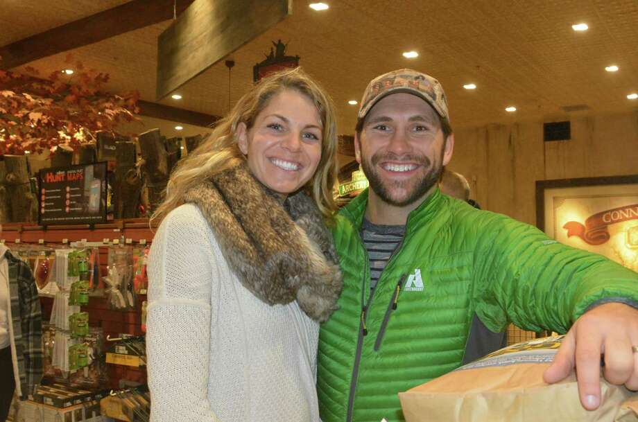 Former baseball star Johnny Damon joined an array of other celebrities including T.J. Ott and Jimmy Houston for the opening of Bass Pro in Bridgeport on November 18, 2015. Were you SEEN? Photo: Vic Eng  / Hearst Connecticut Media Group