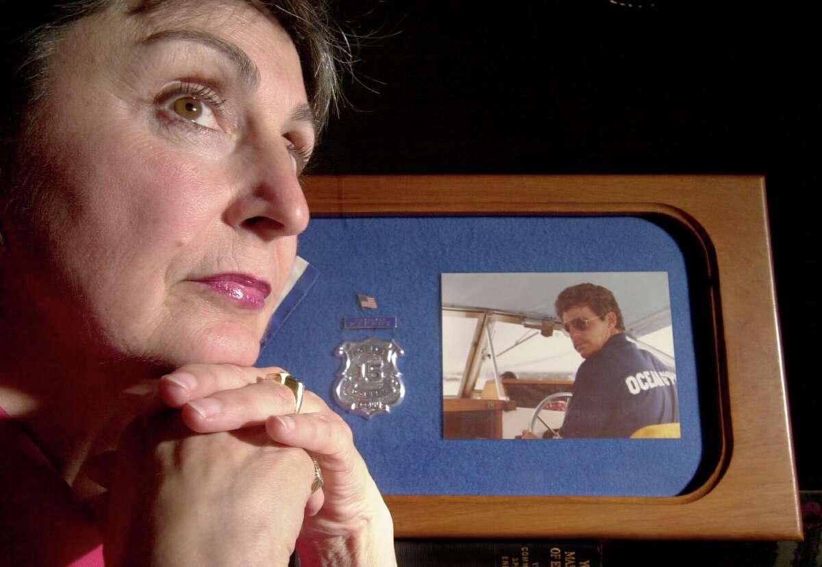 Barbara Bateman remembers her husband, Kenneth Bateman, a Darien policeman who was killed in the line of duty in 1981.