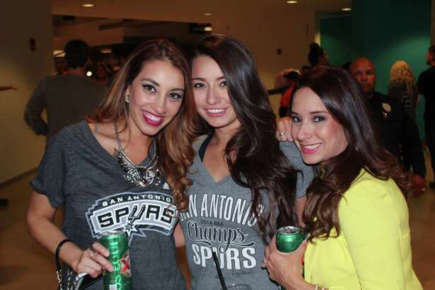 San Antonio fans cheered on their favorite team as the Spurs beat the Denver Nuggets 109-98 at the AT&T Center, Nov. 18, 2015.