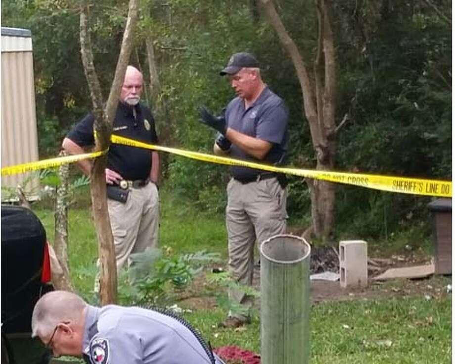 Newton County Sheriff Eddie Shannon investigating possible murder scene courtesy photo