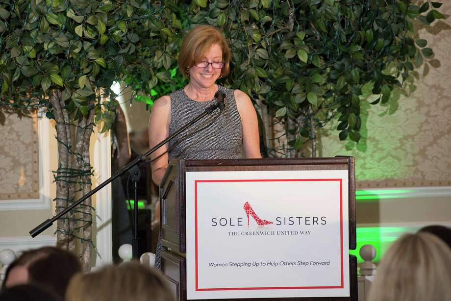 During the last Greenwich United Way Sole Sister luncheon at Greenwich Country Club, lunch co-chair Tory Thorman, (above) who co-chaired the event with Lisa Lori, thanks attendees who contributed to the eventâÄôs success. Photo: Stanley Jesudowich / Stanley Jesudowich