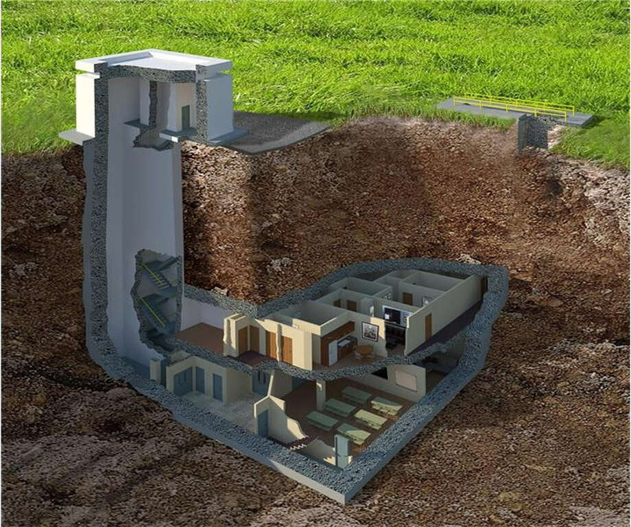 A $17.5 million luxury bomb shelter is for sale in Tifton, Georgia, with 12 apartments, a movie theater, and walls designed to resist a 20 kiloton nuclear blast, according to a listing by Harry Norman Realtors. Photo: Harry Norman Realtors