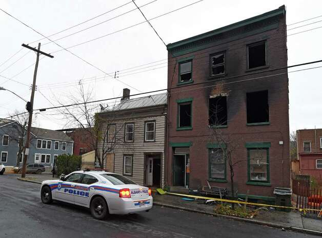 The scene of the fire where at five people were made homeless Thursday morning Nov. 19, 2015 at 50 Broad Street in Albany, N.Y.     (Skip Dickstein/Times Union) Photo: SKIP DICKSTEIN