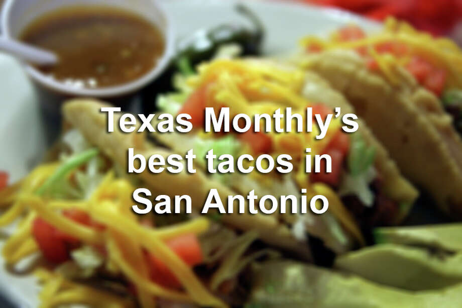 Scroll through the slideshow to see the 20 tacos Texas Monthly magazine named the best in San Antonio.