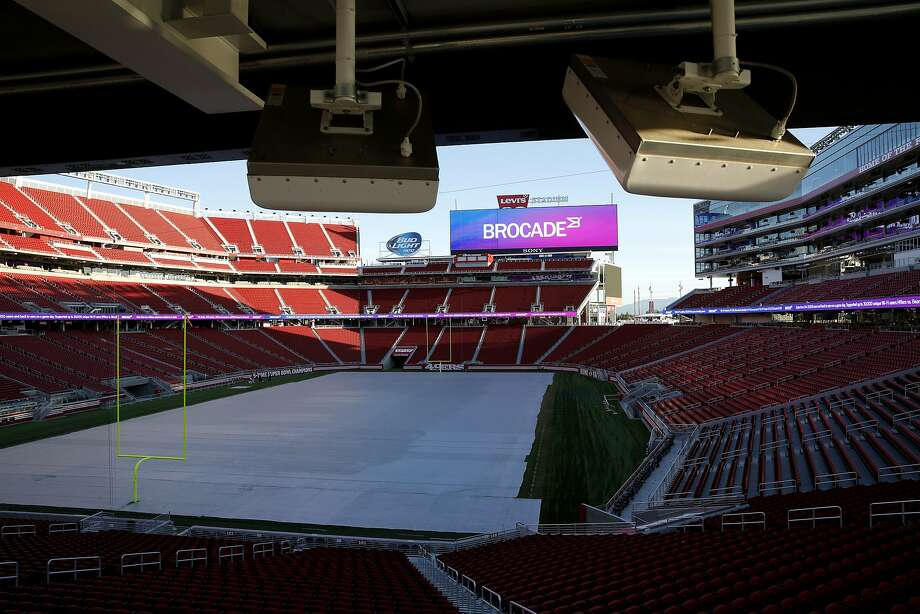 New DAS antennas overlook the field at Levi's Stadium in Santa Clara, California, on Wednesday, Nov. 18, 2015. Photo: Connor Radnovich, The Chronicle