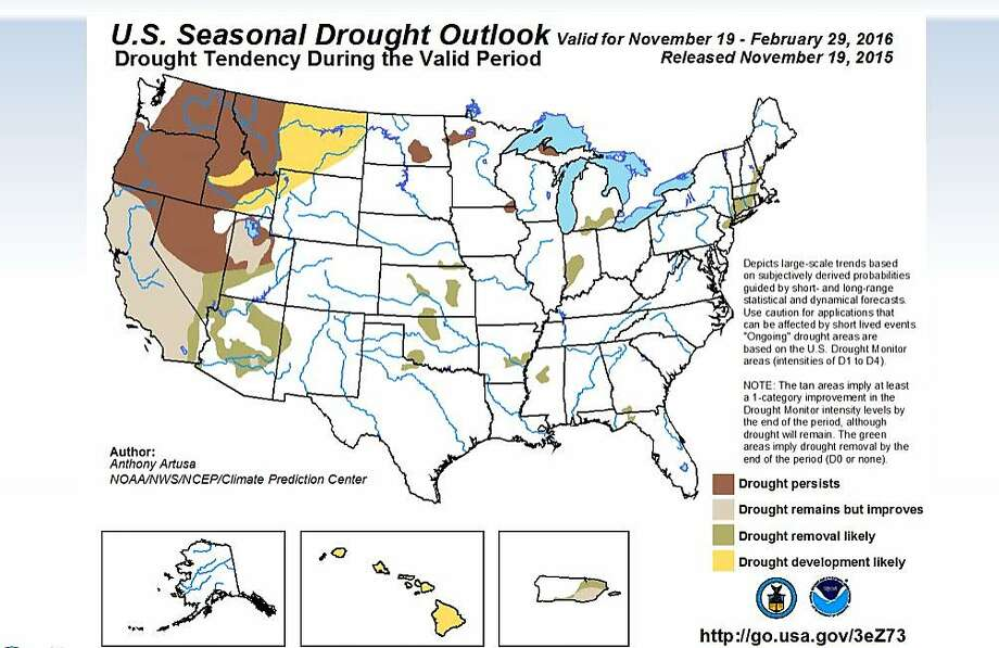 Federal forecasters said Thursday, Nov. 19, that the El Niño weather pattern will likely provide some relief to California's four-year drought this winter. Photo: Alexander, Kurtis L