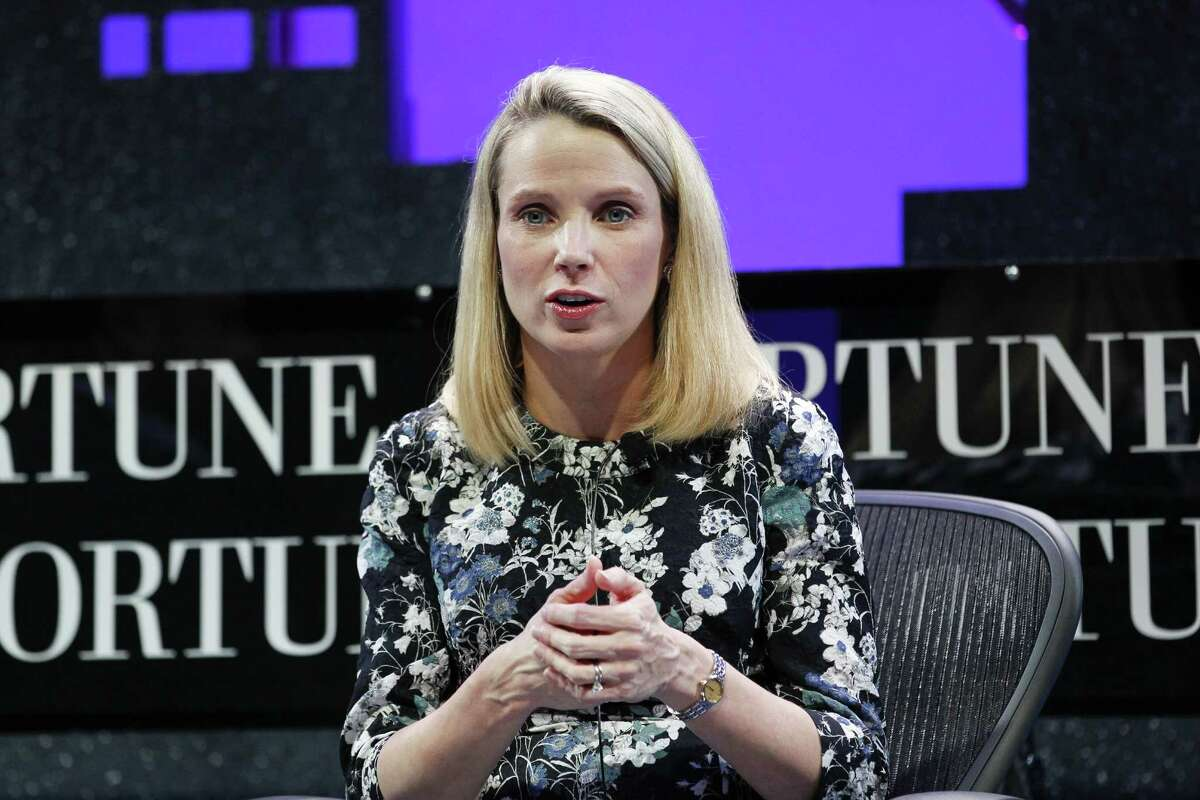 Marissa Mayer speaks during the Fortune Global Forum in San Francisco earlier this month.