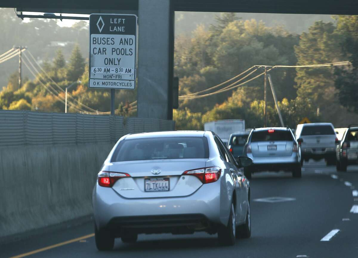 CARPOOL LANE VIOLATIONS The ticket cost for driving in an HOV lane without the required number of passengers (unless you have an electric vehicle) is $490. The fine may be higher for repeat offenders.