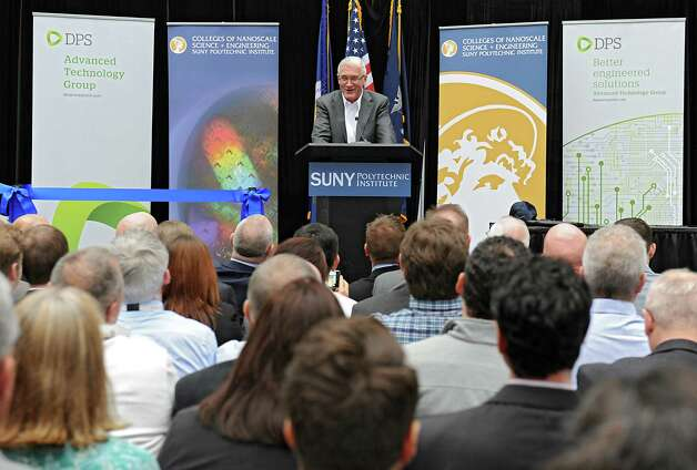 Frank Keogh, President and CEO of DPS Engineering of Ireland , speaks as SUNY Polytechnic Institute welcomes his group as the latest tenant at the ZEN building on Thursday, Nov. 19, 2015 in Albany, N.Y.  (Lori Van Buren / Times Union) Photo: Lori Van Buren / 10034355A
