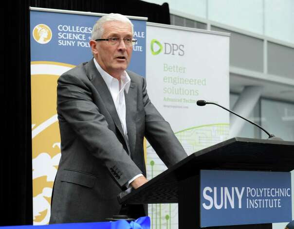 Frank Keogh, President and CEO of DPS, speaks as SUNY Polytechnic Institute welcomes his DPS Advanced Technology Group as the latest tenant at the ZEN building on Thursday, Nov. 19, 2015 in Albany, N.Y.  (Lori Van Buren / Times Union) Photo: Lori Van Buren / 10034355A